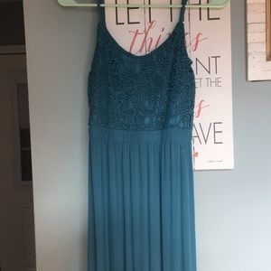 Time and Tru Blue Maxi Dress Small